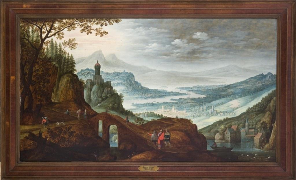 THE ROAD TO EMMAUS, Marten Ryckaert, 17th Century