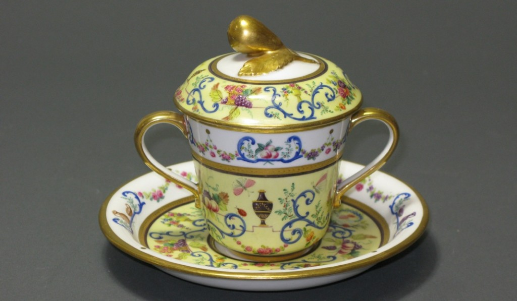A Cup with a Cover and Saucer Porcelain Sèvres, France 1788