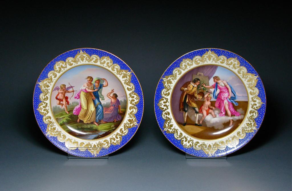 Royal Vienna Plates Porcelain Circa 1840 - 1860s