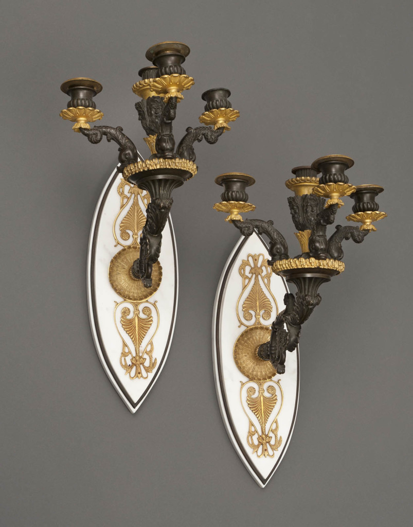 A PAIR OF WALL CANDELABRAS The End of the 19th Century