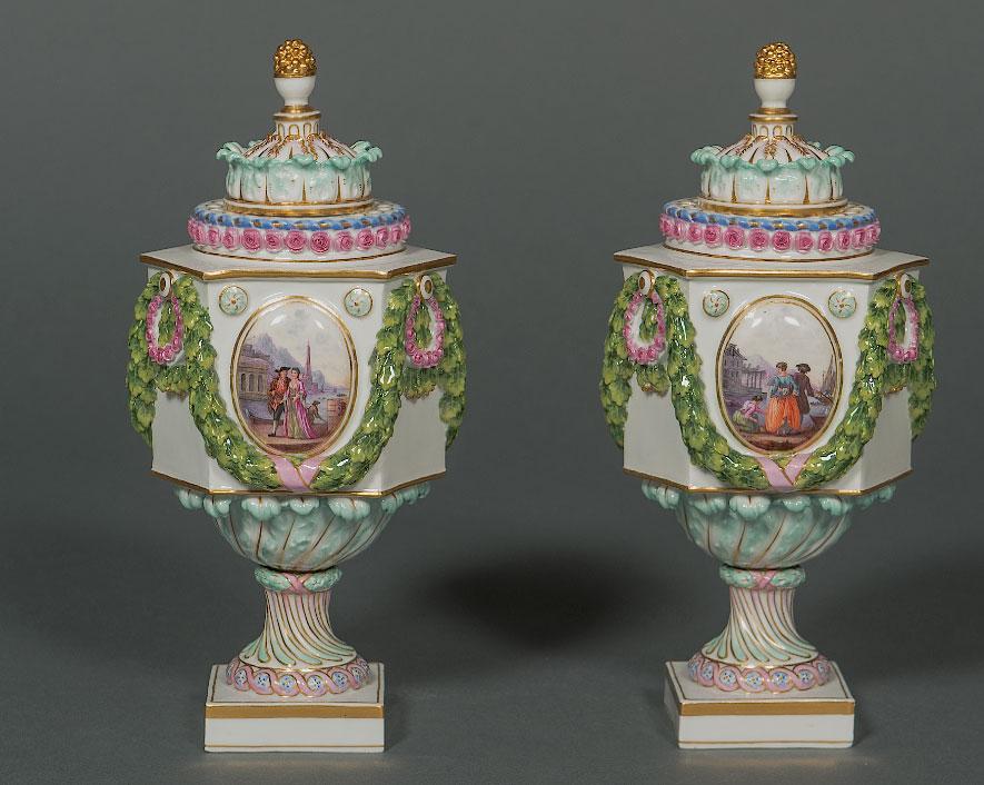 "EARLY AND RARE MEISSEN VASES ""TROMPE DE FLEURE"" Meissen Circa 1815-1840"