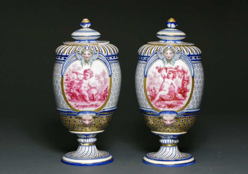 A PAIR OF COVERED VASES Sèvres, France Circa 1775