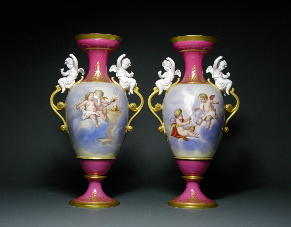 A PAIR OF LIMOGES VASES Limoges 1860 - 1880
