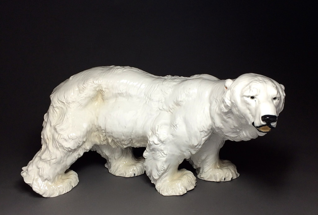A Porcelain Sculpture Of A Polar Bear Of Grand Size Meissen 1903