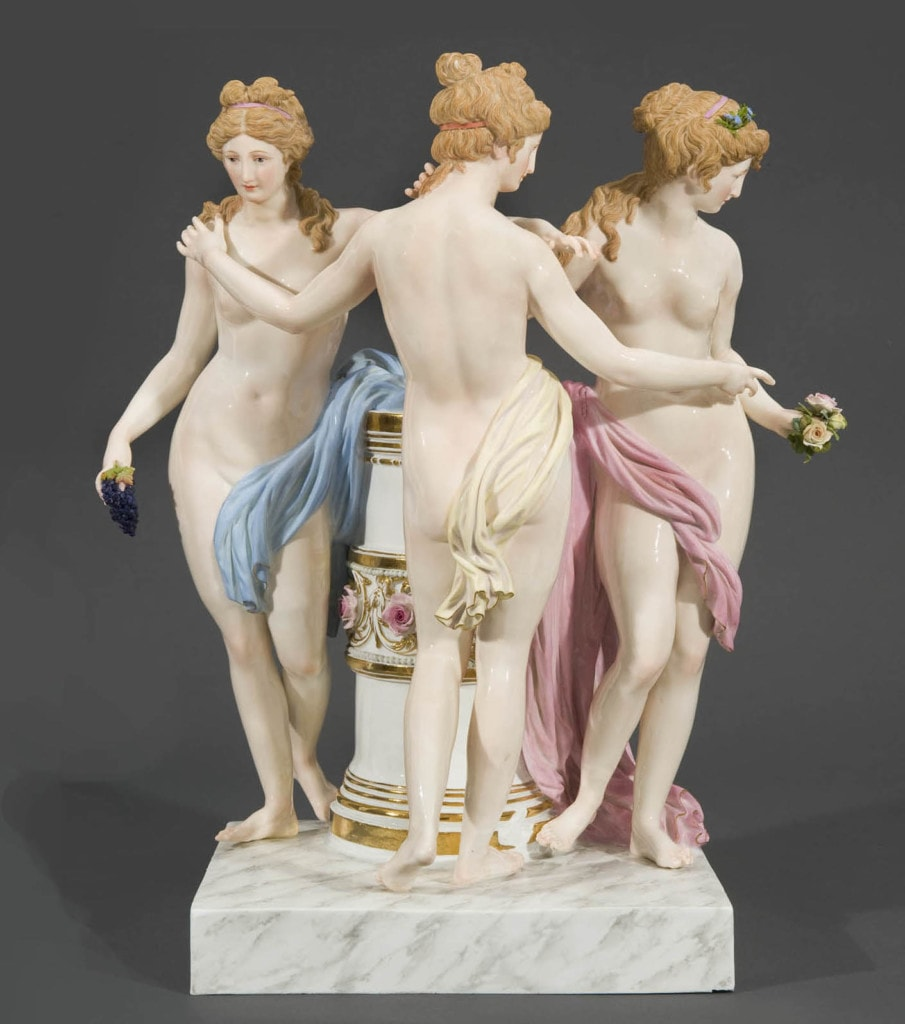 A Meissen Group of the Three Graces Meissen Circa 1880