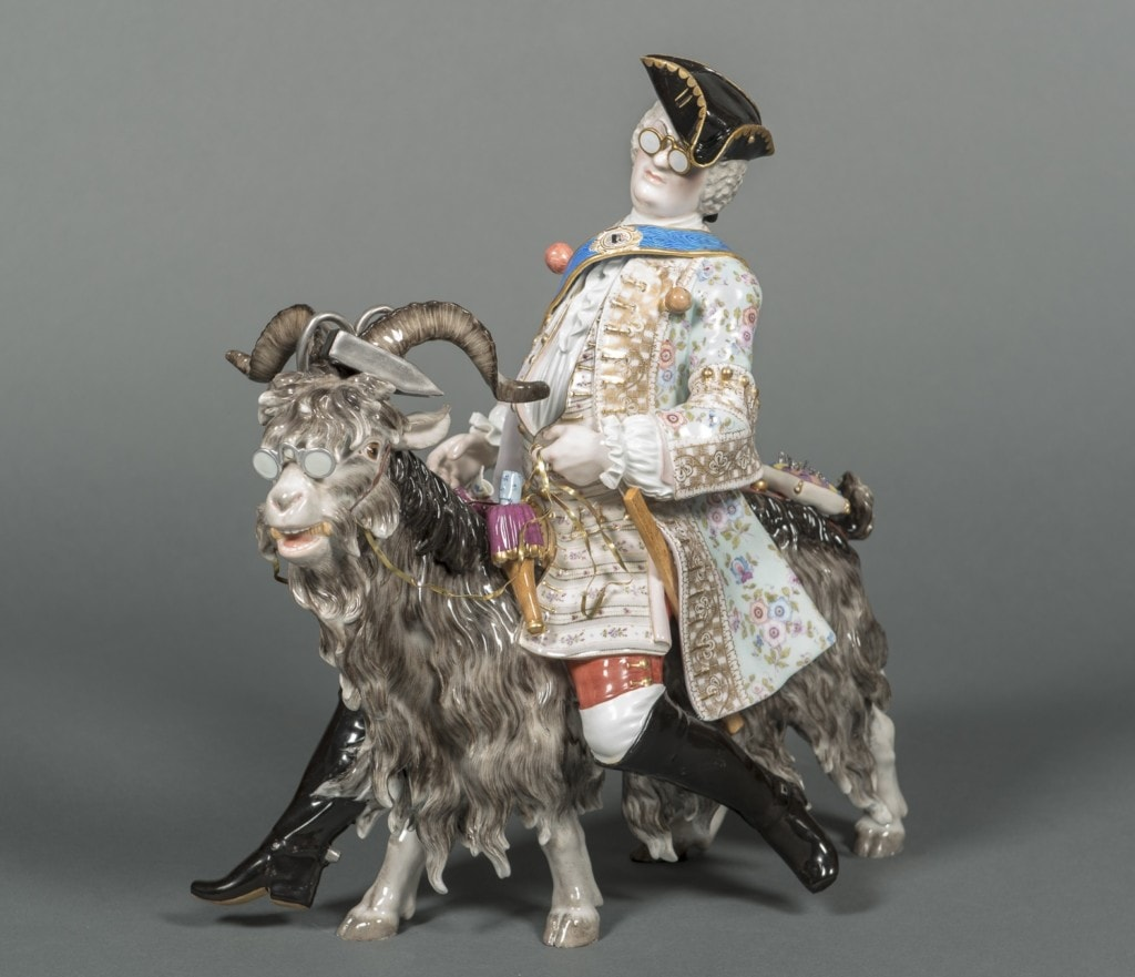 Tailor of a Goat Meissen 19th Century