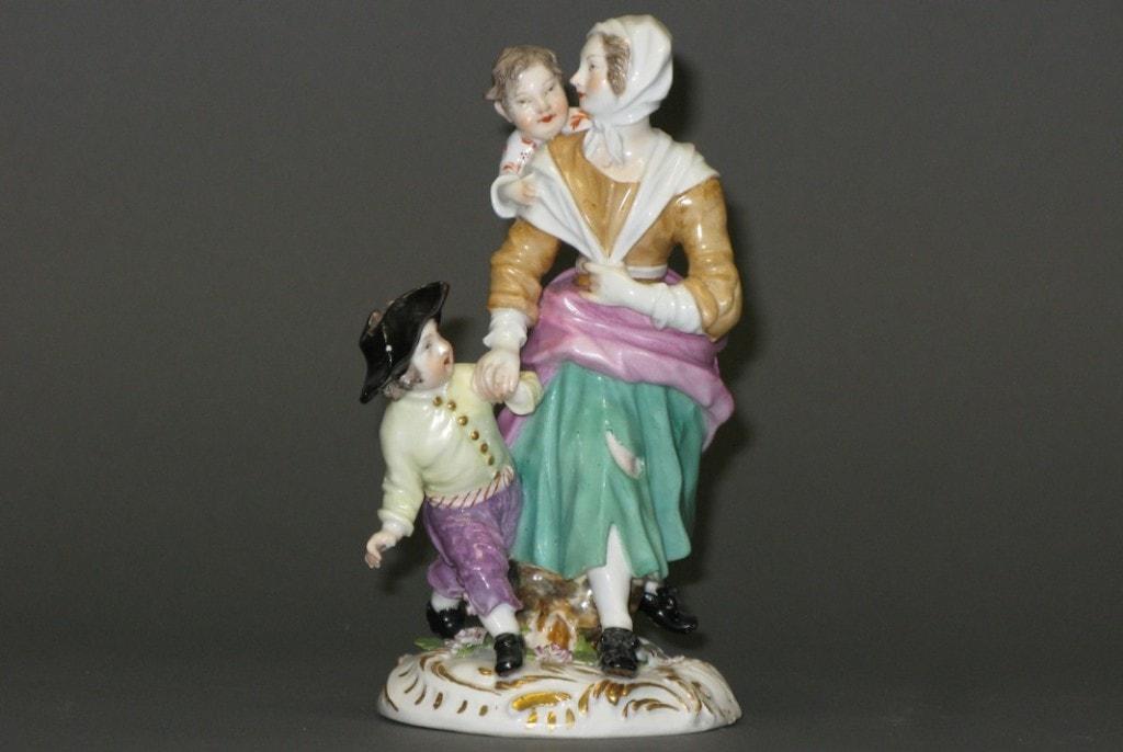 A Figure Group: Beggarwoman with Children Meissen 18th century, c. 1750