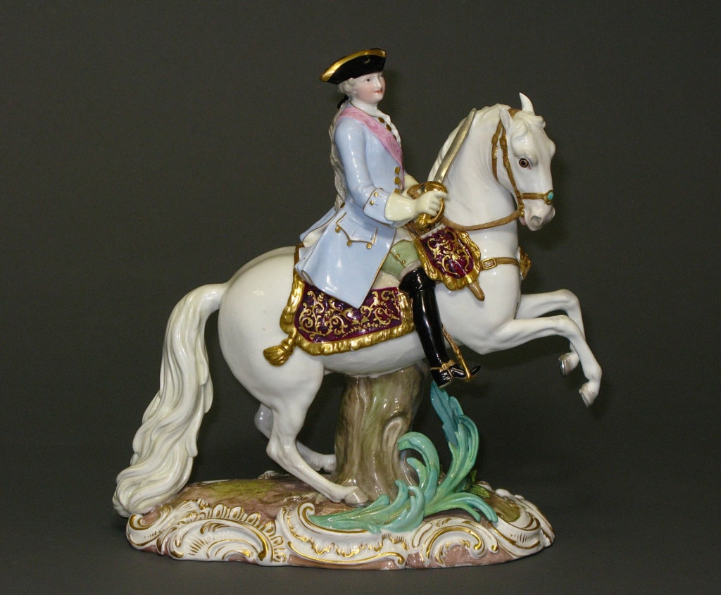 A Meissen Equestrian Group of Catherine II The Great Empress of Russia 19th Century