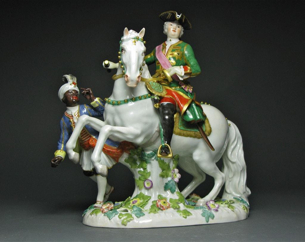 A Meissen Group of Czarina Elizabeth on Horseback Beginning of 20th Century