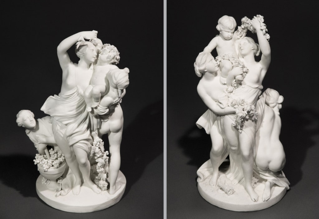 Les Trois Graces Portant l'Amour Sevres Circa 1770