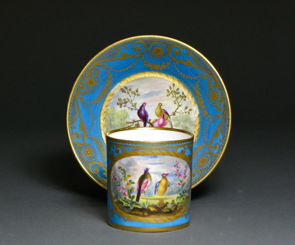 Sevres Cup and Saucer Sèvres, France 1780